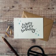 Hunter Paper Co. Happy Happy Birthday Card